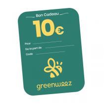 Greenweez.be - Chèque cadeau 10 Euros