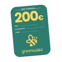 Greenweez.com - Chèque cadeau 200 Euros