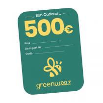 Greenweez.com - Chèque cadeau 500 Euros
