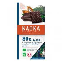 Kaoka - Tablette chocolat noir 80% 100g