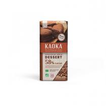 Kaoka - Tablette chocolat noir Dessert 58% 200g
