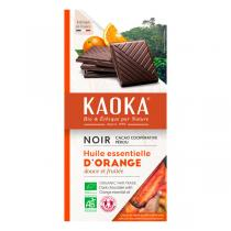 Kaoka - Tablette chocolat noir orange 100g