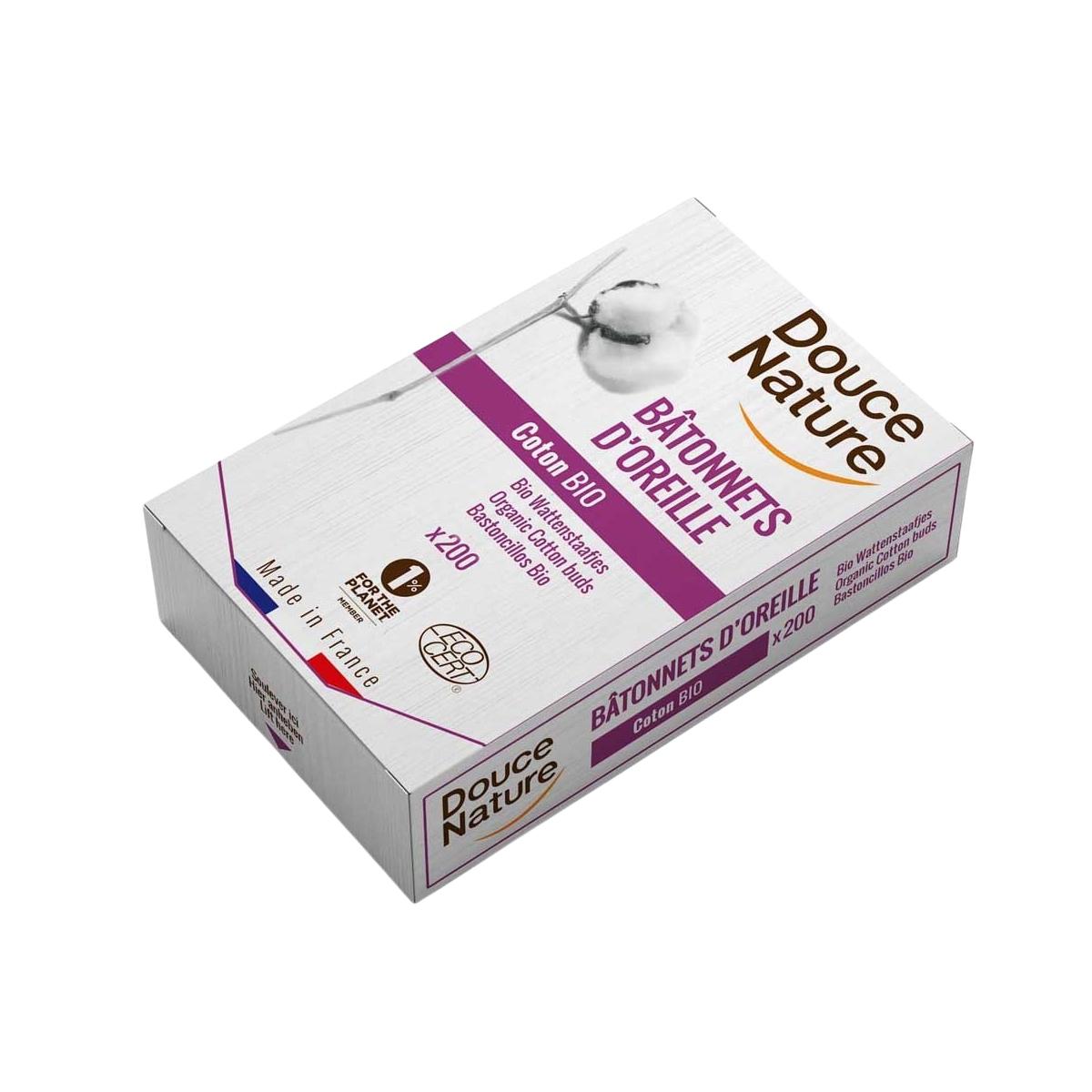 Douce Nature - Cotons tige en coton bio x 200