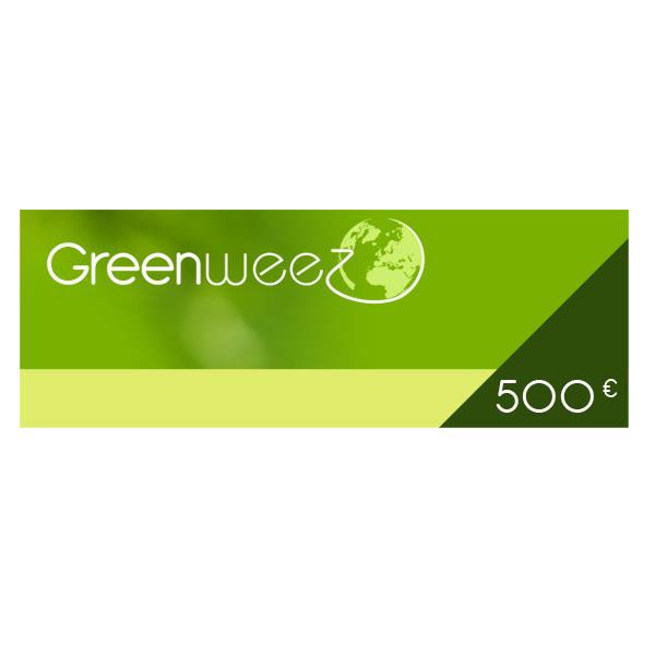 Greenweez.eu - 500 Euros Gift Voucher