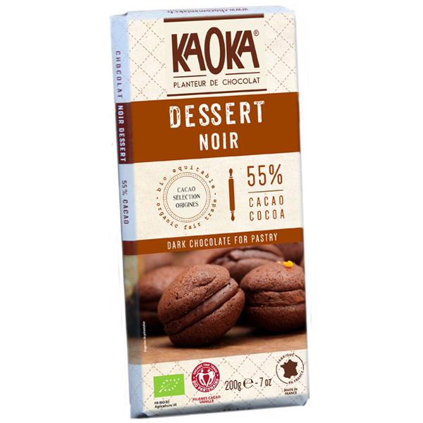 Kaoka - Tablette chocolat noir Dessert 55% 200g