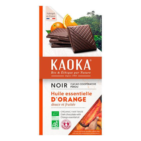 Kaoka - Tablette chocolat noir orange 100g