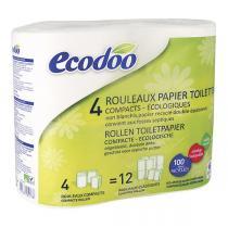 Ecodoo - Papier toilette compact recyclé x4