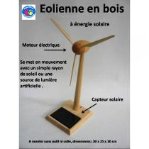 Equilibre et Aventures - Eolienne en bois 30 cm