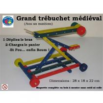 Equilibre et Aventures - Grand trébuchet couleur en bois