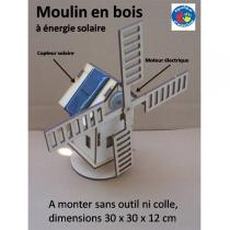 Equilibre et Aventure - Wooden Solar-Powered Windmill