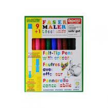 Okonorm - Felt tip Pens 9 colours +1 eraser