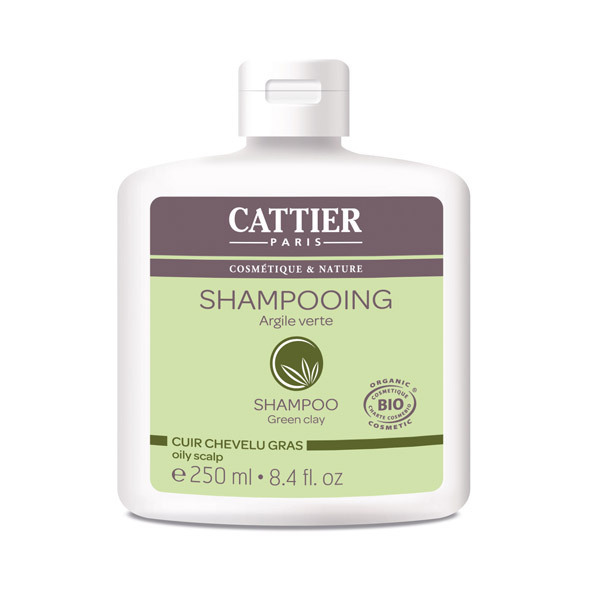 Cattier - Shampoo Oily Hair Green Clay