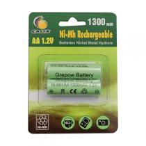 Galix - 2 piles recharg. 1,2V 1300mAh AA