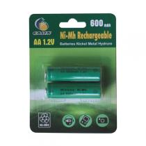 Galix - 2 Rechargable batteries 1.2V 600mAh AA