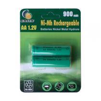 Galix - 2er-Set aufladbarer Batterien 1,2V 900mA /Stunde AA