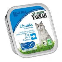 Yarrah - Katzenfutter Schale Bröckchen Huhn und Makrelen