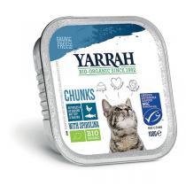 Yarrah - Bouchées pour chat barquette Poisson 100g