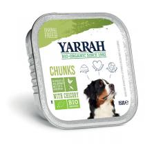 Yarrah - Bouchées pour chien bio barquette Poulet et Chicorée 150g