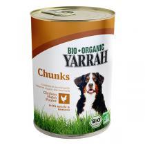 Yarrah - Bouchées pour chien bio boîte Poulet 405g