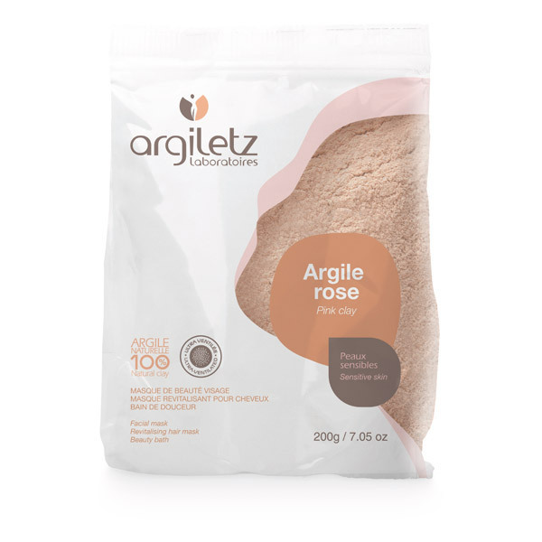 Argiletz - Argilla rosa in polvere ultra ventilata 200g