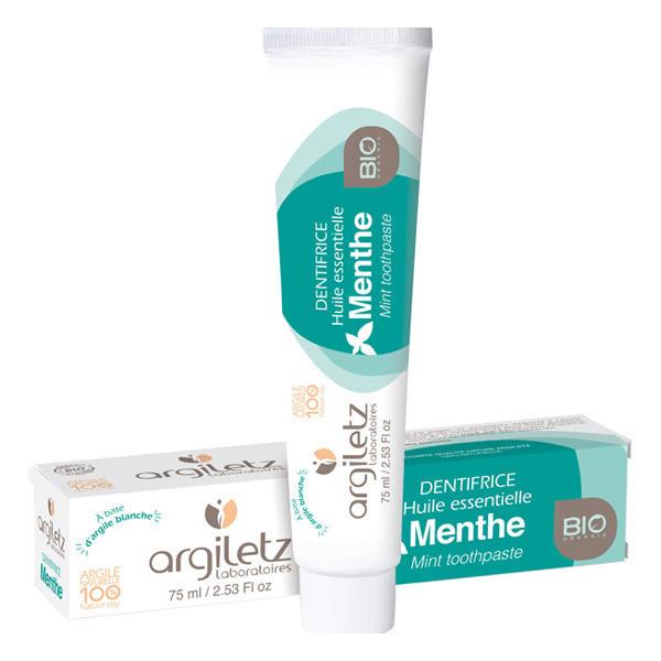 Argiletz - Dentifrice menthe argile 75ml