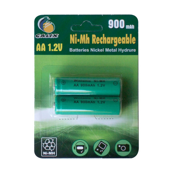 Galix - 2 Rechargable batteries 1.2V 900mAh AA