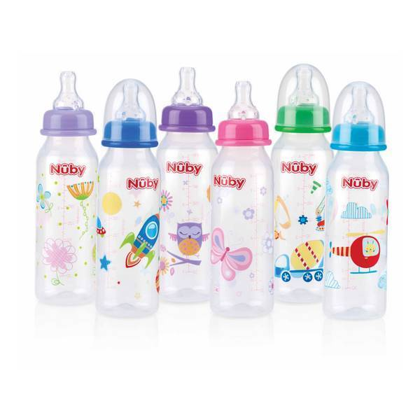 Non-Drip Printed Bottle 240ml Nuby