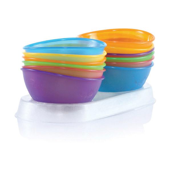 Nuby - 4 Scodelle in polipropilene senza BPA