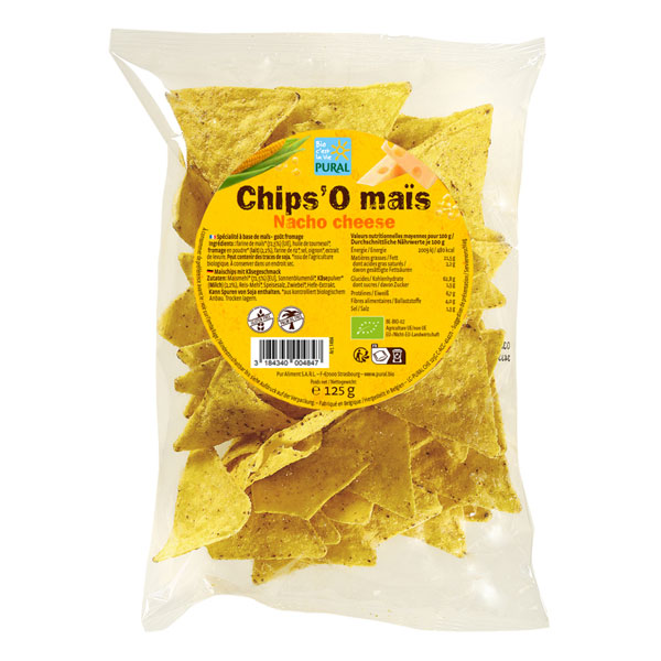 Pural - Chips maïs fromage Tacos 125g