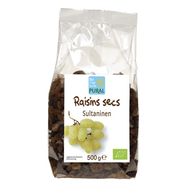 Pural - Raisins secs sultanines blonds 500g
