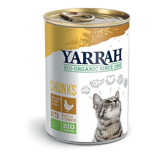 Yarrah - Bouchées pour chat boîte Poulet 405g