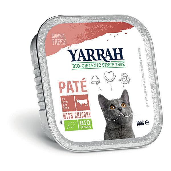 Yarrah - Pâtée pour chat bio barquette Boeuf 100g
