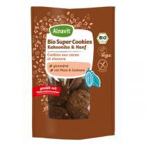 Alnavit - Cookies au cacao et chanvre bio vegan sans gluten - 125 g