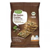 Alnavit - Crackers au chanvre et chia bio et sans gluten - 75 g
