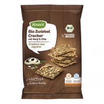 Alnavit - Crackers aux oignons bio et sans gluten - 75 g