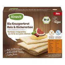 Alnavit - Tartines craquantes riz pois chiches bio vegan sans gluten 120 g