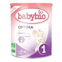 Babybio - Optima 1 Lait Nourrisson BIO 0-6 mois au Bifidus - Boîte de 400g