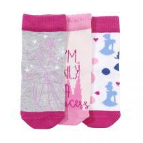 Disney Baby - 3 paires de chaussettes Princesse - Rose clair - 0 à 36 mois