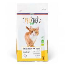Felichef - Croquettes sans céréales chat stérilisé Volaille 2kg