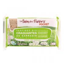 Le pain des fleurs - Tartines craquantes Sarrasin Pocket - 4 tartines