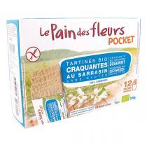 Le pain des fleurs - Tartines Sarrasin sans sel ni sucres Pocket - 12 x 4 tartines