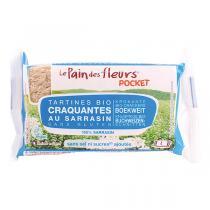 Le pain des fleurs - Tartines Sarrasin sans sel ni sucres Pocket - 4 tartines