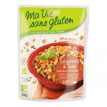 Ma Vie Sans Gluten - Repas Légumes et soja cuisinés à l'oriental bio - 250 g