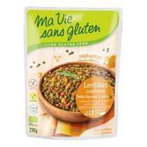 Ma Vie Sans Gluten - Repas Lentilles cuisinées, légumes et curry bio - 250 g