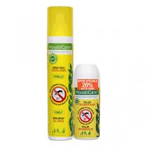 Mousticare - Lot Spray Famille Toutes Zones & Roller Anti-Moustiques