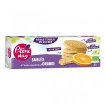Pléniday - Sablés à l'huile essentielle d'Orange bio - 105 g