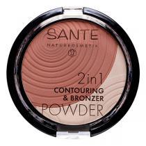 Santé - 2en1 Contouring et poudre bronzante 01 Light Medi