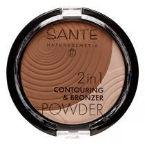 Santé - 2en1 Contouring et poudre bronzante 01 Dark Medi