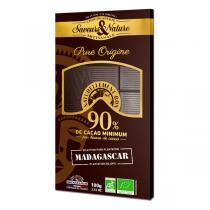 Saveurs & Nature - Tablette chocolat noir 90% Madagascar 100g