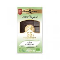Saveurs & Nature - Chocolat noir 55% au lait d'amande 100g